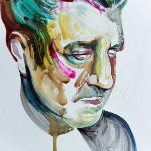 Blue Velvet modern art painting portrait