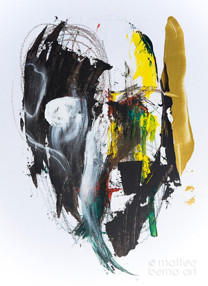 abstract art portrait modern