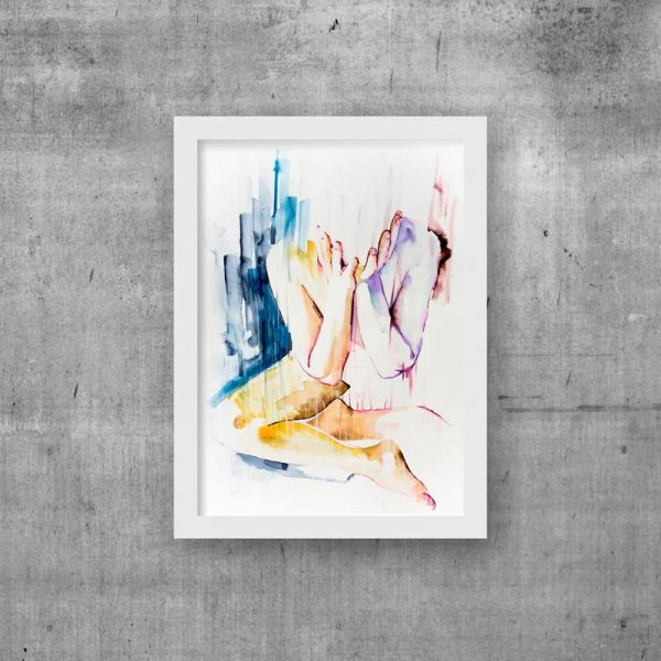 art print figure modern