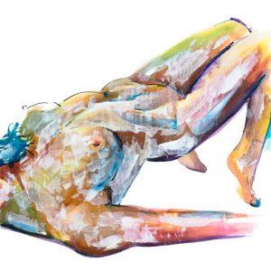 art print nude modern