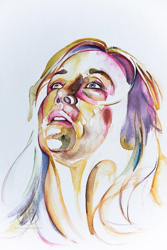 modern art contemporary matteo bernasconi watercolour painting