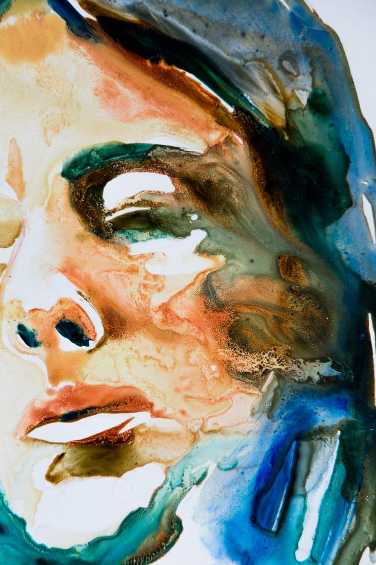 modern art portrait oil contemporary unique sydney