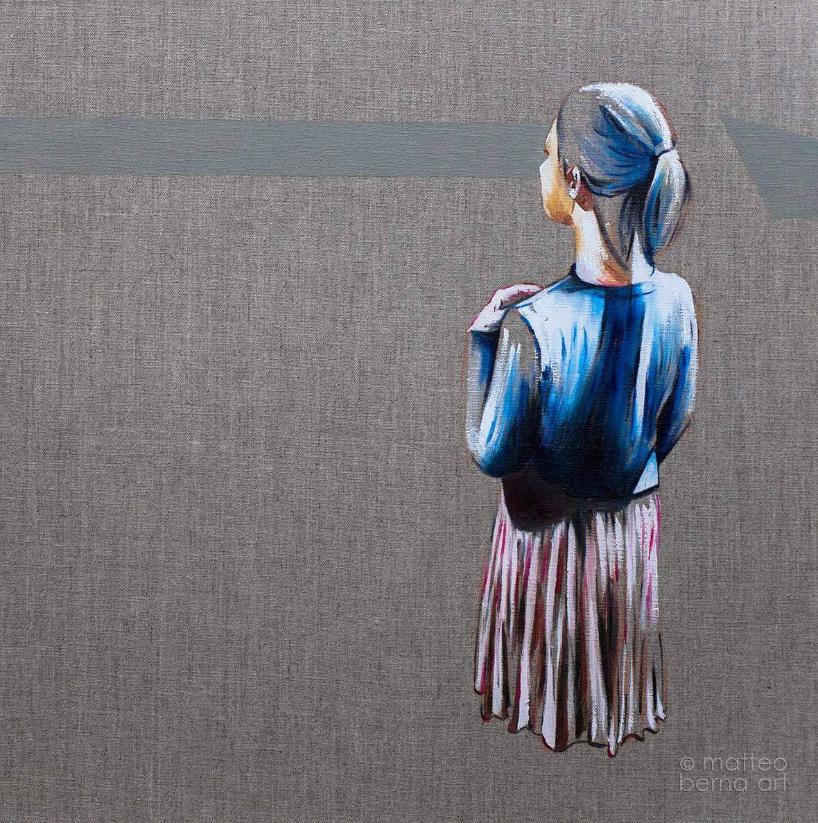 oil painting figure linen human condition