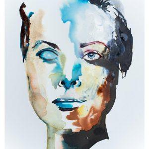 portrait abstract art watercolour modern print buy