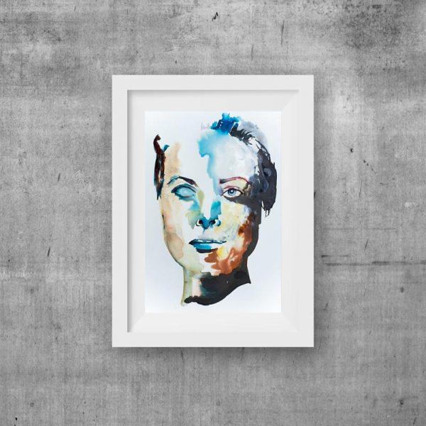 print art abstract portrait