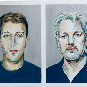 the criminal and the hero Julian Assange Mark Zuckerberg