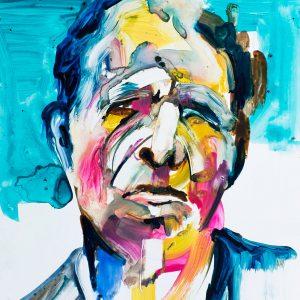 tom waits painting art modern unique