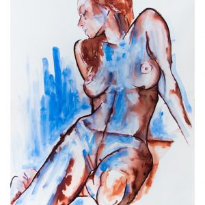 blue woman abstract nude beautiful