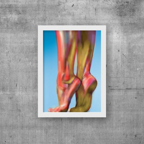 dance feet print dancer art