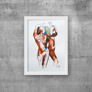 model duality ink print nude art