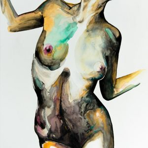 original unique painting emerging artist art nude
