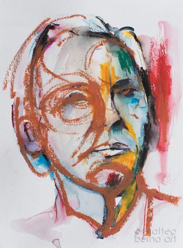 portrait modern art contemporary abstract