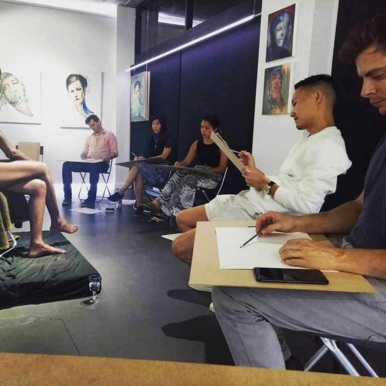 sydney life drawing sketch tutor learn