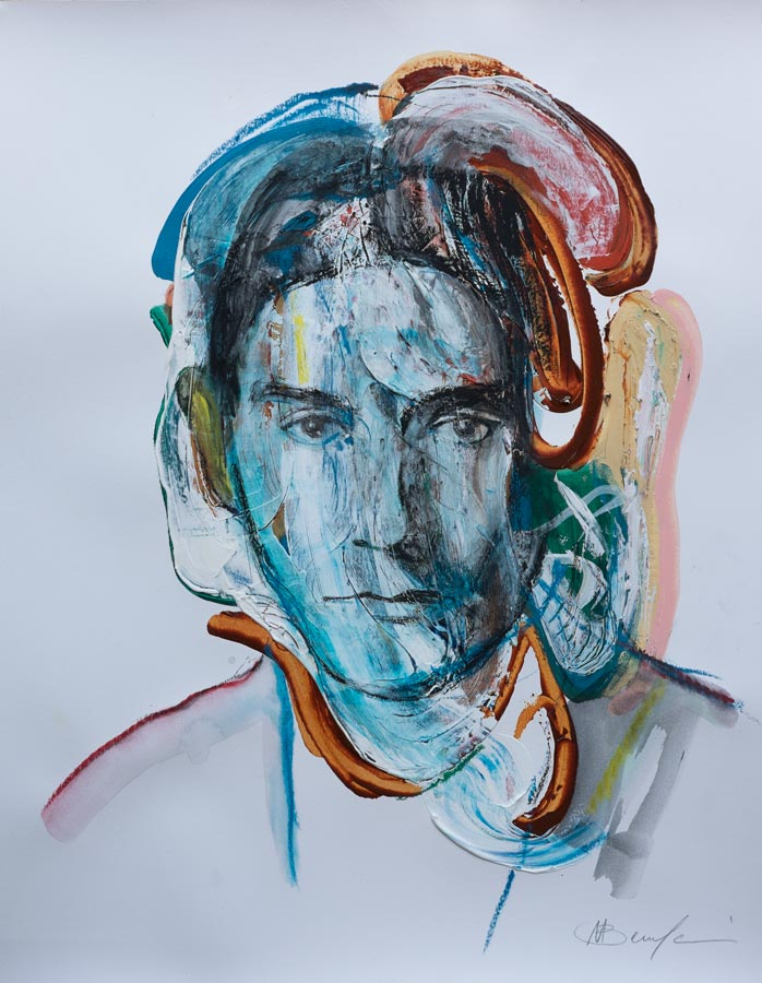 Franz Kafka portrait art
