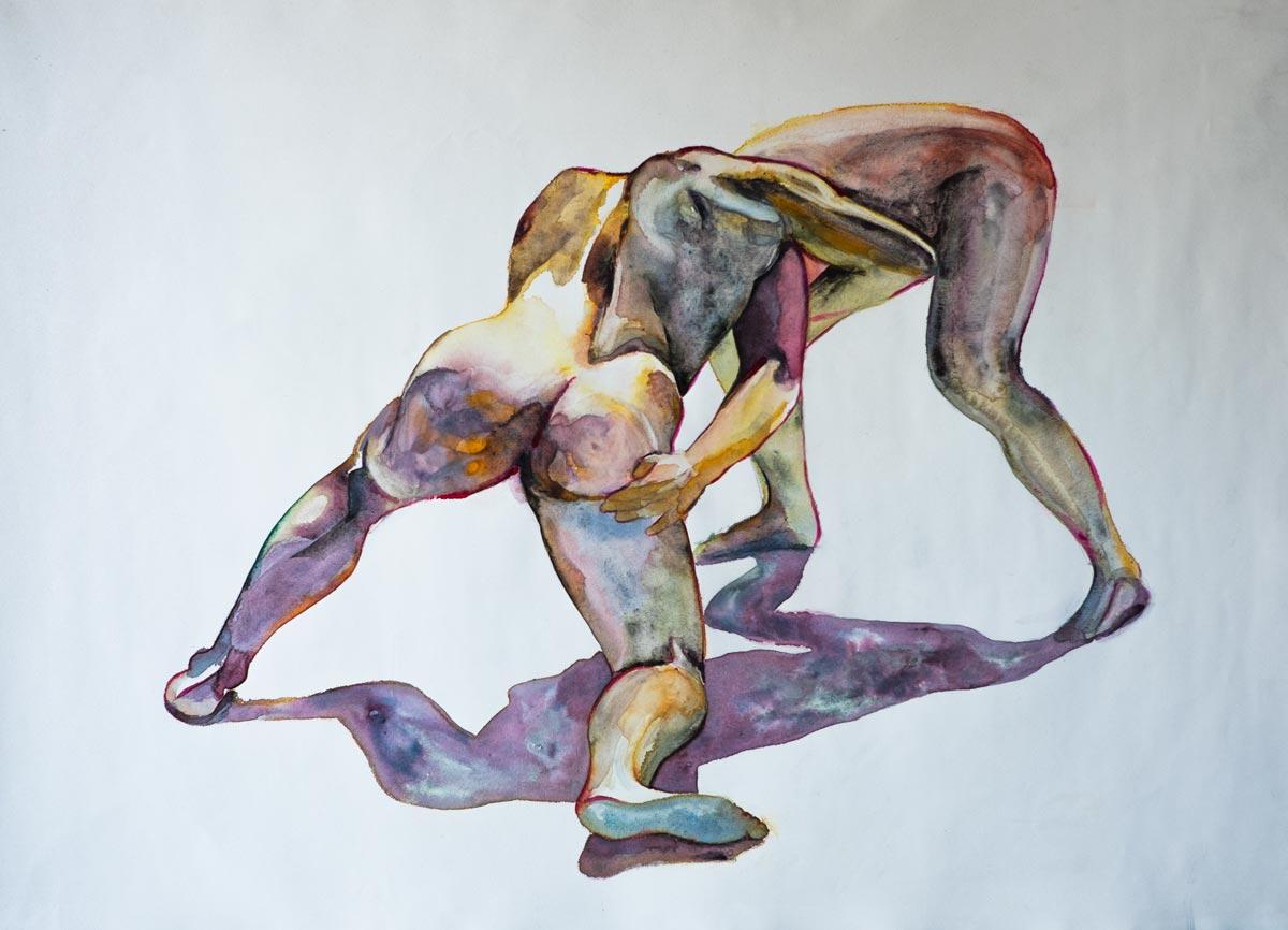 buy art Sydney figures naked human original painting