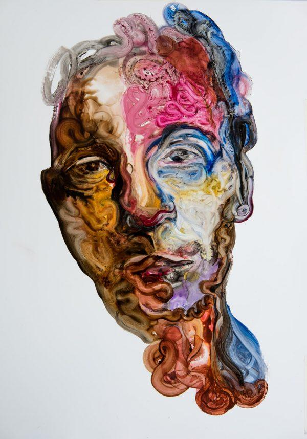 portrait art modern oil painting abstract portrait