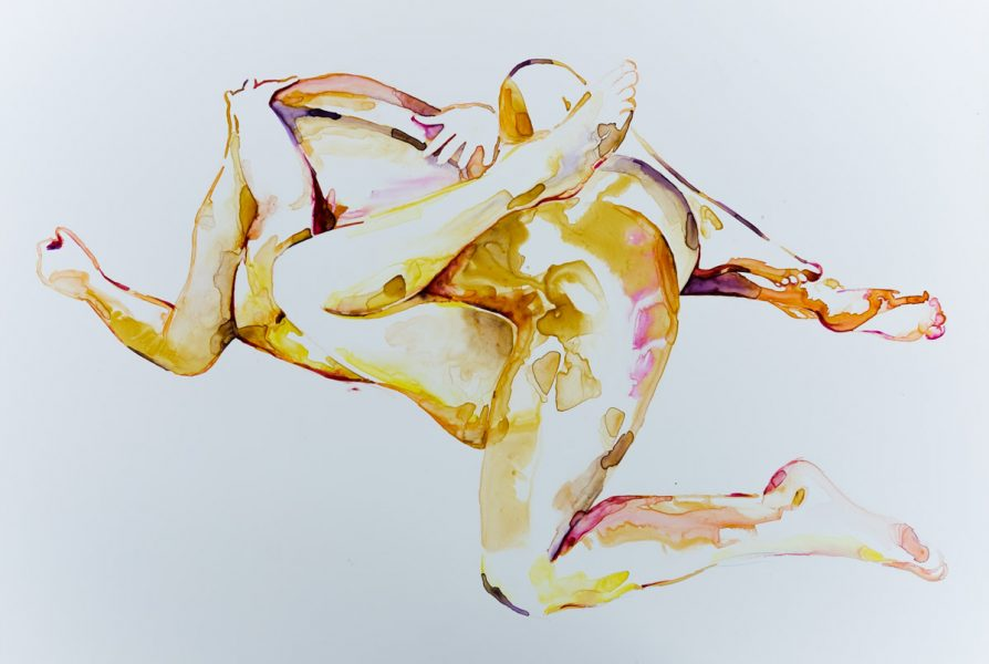 nude watercolour contemporary art