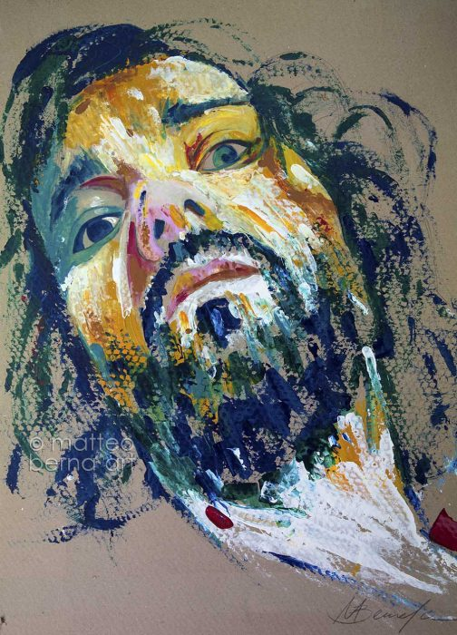 portrait modern art expressionism abstract sydney