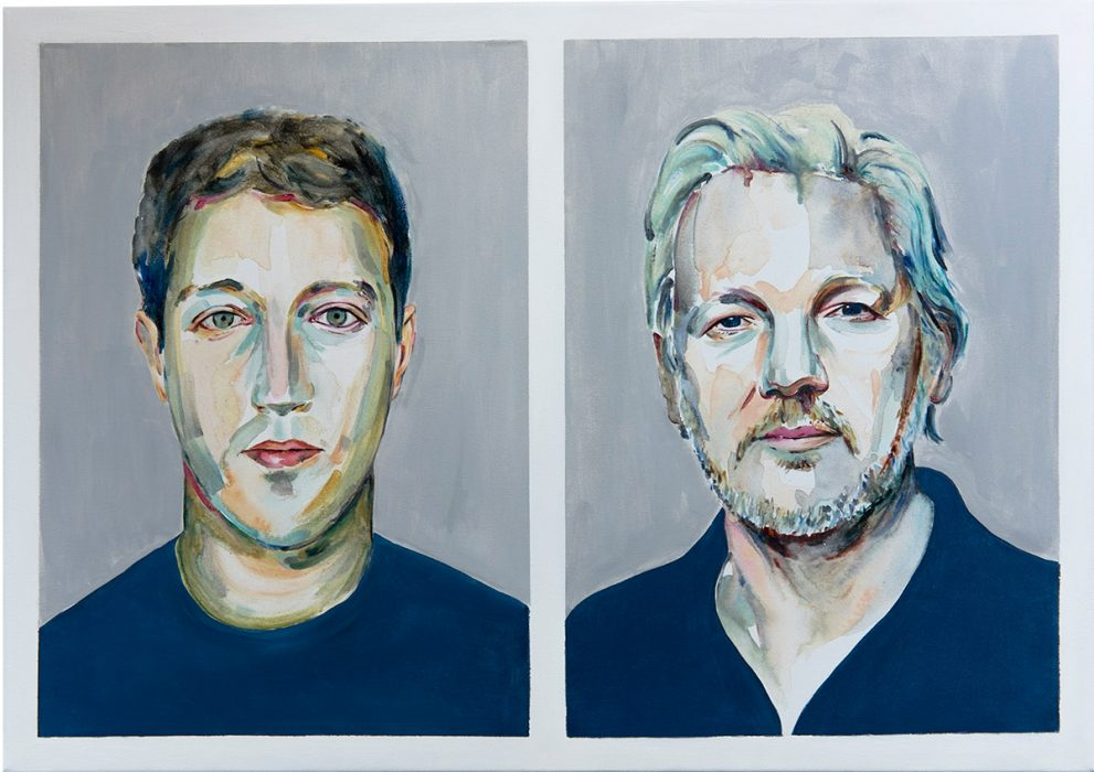 the criminal and the hero Julian Assange Mark Zuckerberg